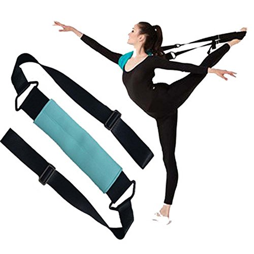ynxing Bein Keilrahmen Ballett Stretch-Band Tanz Gymnastik Training Gürtel für Ballett-Tanz und Gymnastik Training zu Hause oder im Fitnessstudio, blau