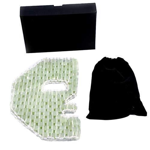 Lopbinte Portable Soins de la Peau RéUtilisable RéUtilisable Du Visage de Jade Refroidissement RéHabilitation Spa Quartz Sommeil Durable Apaisant