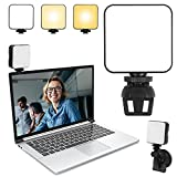 Hiveseen Luz para Videoconferencia, Mini Iluminación de Fotografía con Ventosa, 2500-6500K Regulable LED Video Relleno Light para Ordenador Portátil, Reunión de Zoom, Cámara, Transmisión Vivo