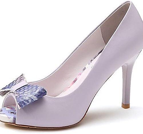 GGX  Chaussures Femme-Mariage   Bureau & Travail   Habillé   Décontracté   Soirée & EvéneHommest-Violet   Blanc-Talon Aiguille-Talons   Bout