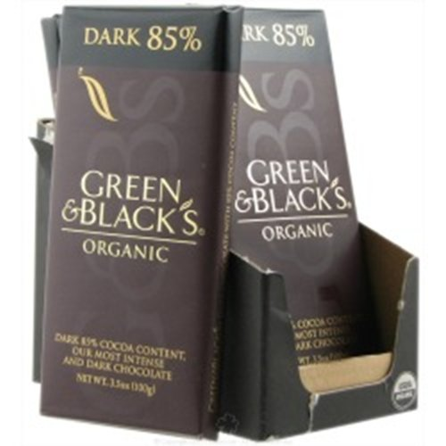 Green & Black's Chocolate Bar - 85% Dark, 3.5-Ounce (Pack of 5)