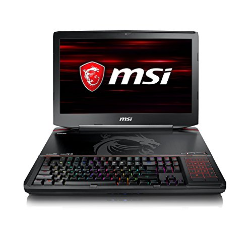 MSI GT83 Titan 8RG-029UK 18.4-Inch Gaming Laptop - (Black) (Intel i7-8850H, 32 GB RAM, 1 TB HDD, NVIDIA GeForce GTX 1080 SLI with 8GB GDDR5X, Windows 10 Home)
