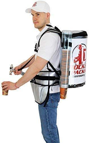 Bier Rucksack 15 Liter Kunststoff Tank und Profi-Zapfhahn (mit Pumpe)