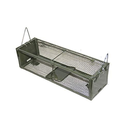 Trampa para ratas Ratón Jaula Ratonera Humanizada Potente Roedor Vitalidad Artefacto Trampa para Ratón en Casa Ratón Némesis 40 * 13 * 11 cm Trampa de jaula ( Color : Green , tamaño : 40*13*11cm )
