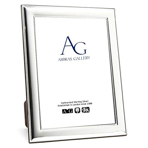 Arbras Gallery Silver Photo Frame 6' x 4' with Wood Back can stand Portrait or Landscape
