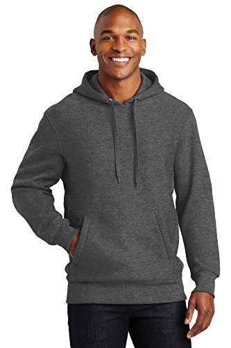 SPORT-TEK Men's Super Heavyweight Pullover Hooded Sweatshirt L Graphite Heather Hawaii