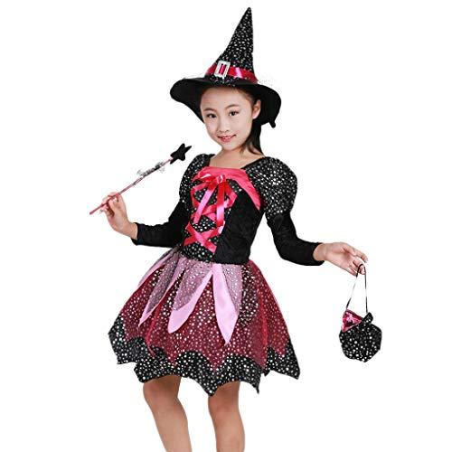 Baby Meisjes Halloween Kostuum Jurk Feestjurken+Hoed Outfit Kleding, HOMEBABY Peuter Kinderen Fancy Jurk Party Kleurrijk, Baby Gift