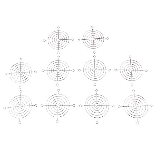 D DOLITY 10Unidades. Metal presupuesto Ventilador Parrilla–Protección para los Dedos para 12cmx12cm Ventilador Ventilador Filtro de Polvo Ventilador Rejilla de Filtro de Polvo 8x 8cm