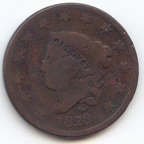 1828 Coronet Head Large Date Large Cent Good Details