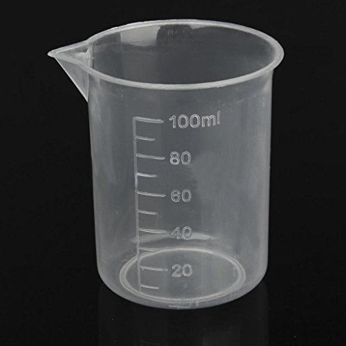 Bezall 10Pcs 100mL Plastic Liquid Measuring Cups, Clear Laboratory Graduated Beaker Mixing Cup for Kitchen Baking Cooking Home Lab Measure Tool