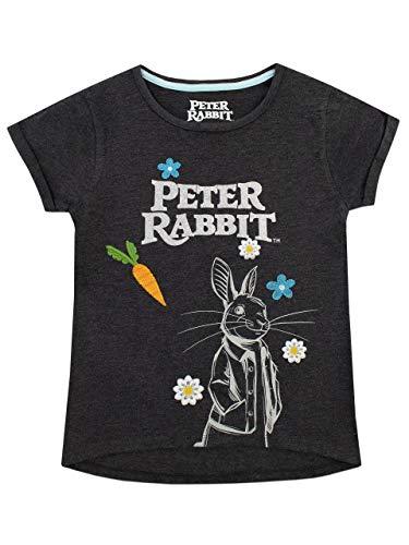 Peter Rabbit Camiseta feminina Beatrix Potter, Cinza, 2T