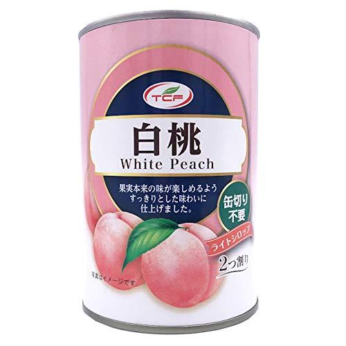 白桃缶詰 425g×24缶 5号 1ケース ピーチ フルーツ プルトップ缶 缶詰め 業務用 まとめ買い