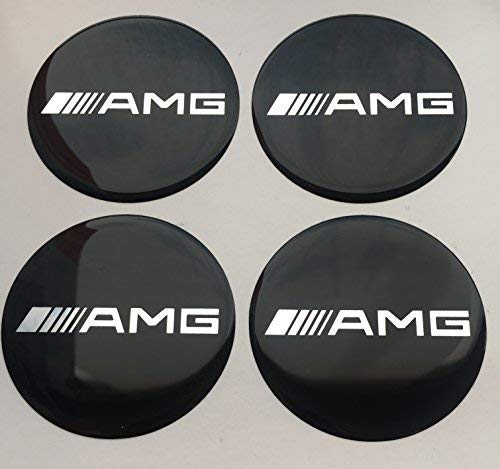 AMG ★4 Stück★60mm Aufkleber Emblem für Felgen Nabendeckel Radkappen
