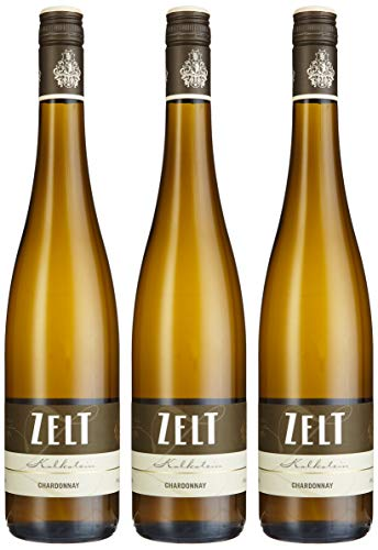 Weingut Zelt Laumersheimer Chardonnay QbA 2015/2016 trocken (3 x 0.75 l)
