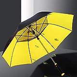 FASZFSAF Nouveau Parapluie Ventilateur, ModèLes Charge Rechargeables USB Pare-Soleil Droit Caoutchouc Noir avec Protection SuppléMentaire Contre Vent Les Parapluies ImperméAbles à l'eau