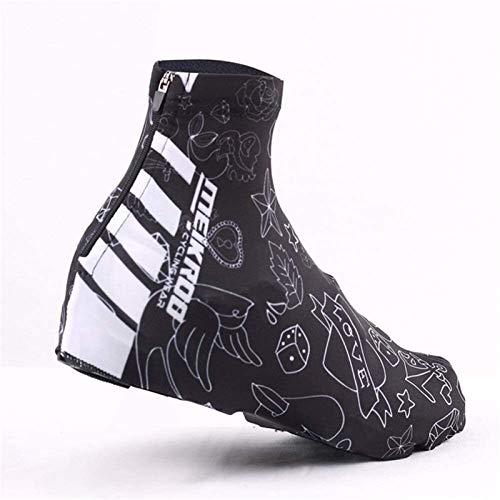 Cubrezapatillas De Ciclismo Hombre Mujer reducción de la Resistencia al Viento Zapatos de Bloqueo de Bloqueo para Montar al Aire Libre Escalada Nieve Botas de Lluvia Cubierta Protectora Cobertura