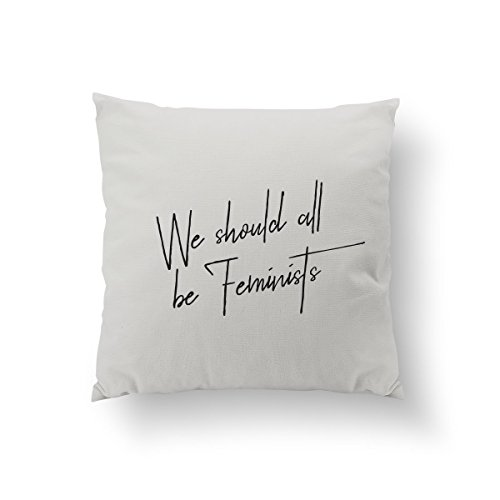 We Should All Be Feminists, Feminist Quote, Sisterhood, Fashion Chic, Typography Pillow, Home Decor, Cushion Cover, Throw Pillow,Gold Pillow