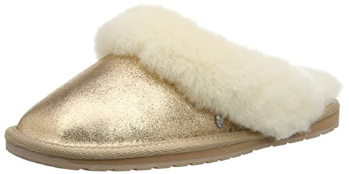 Emu Jolie Metallic, Damen Pantoffeln, Gold (Jolie Metallic Emw11485Rogo), 39 EU (6 UK)