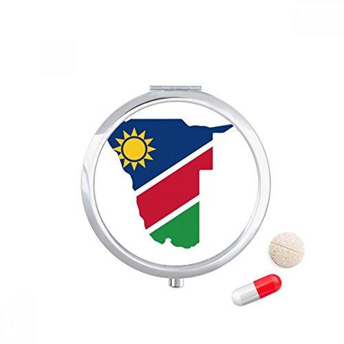 DIYthinker De Republiek Namibië Afrika Kaart Reizen Pocket Pill case Medicine Drug Storage Box Dispenser Mirror Gift