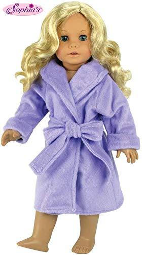Sophia's Dolls Robe for 18 Inch Dolls s & Fits American Girl Dolls - Dolls Robe & Tie Belt, Lavender Doll Robe