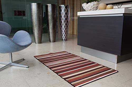 The Rug House Terracotta Stripe Max 88% OFF Our shop OFFers the best service Entran Non Slip Washable Machine