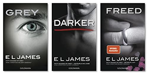 "E L James-Set: ""Grey"" + ""Darker"" + ""Freed"" (Fifty Shades of Grey aus Christians Sicht erzählt, Band 1–3)"