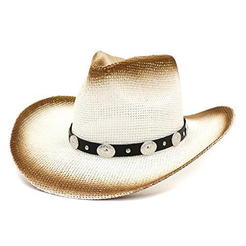 XYAL0003001 Xingyue Aile Hoeden & Caps Womem Mannen 100% Rieten Hoed, Handgemaakte Zon Hoed Outdoor Cowboy Beach Hoed Western Sombrero Hombre Lifeguard Hoeden
