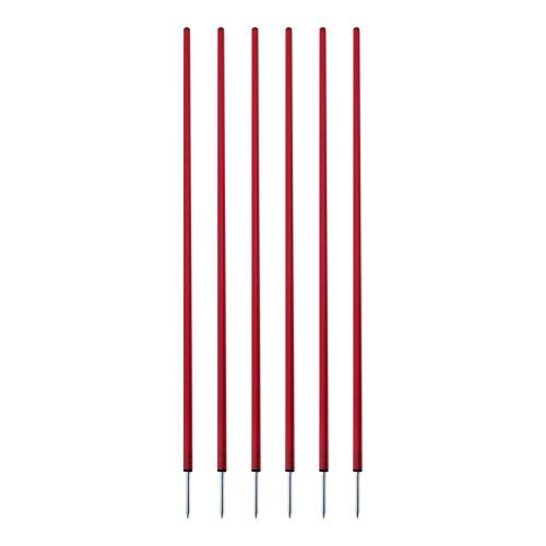 Champion Sports Coaching Sticks, Red