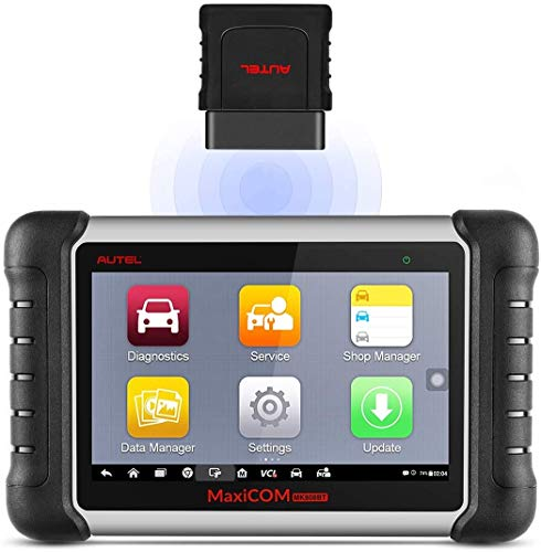 Autel Scanner MaxiCOM MK808BT OBD2 Scan Tool, Supports Full System Diagnosis, ABS Auto Bleed, Key...