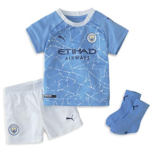 PUMA Kids Manchester City Home Baby Kit 2020 2021 Blue 9-12 Mnth