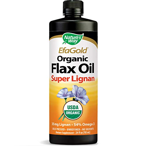 Nature's Way Organic Flax Oil Super Lignan 24 Ounce