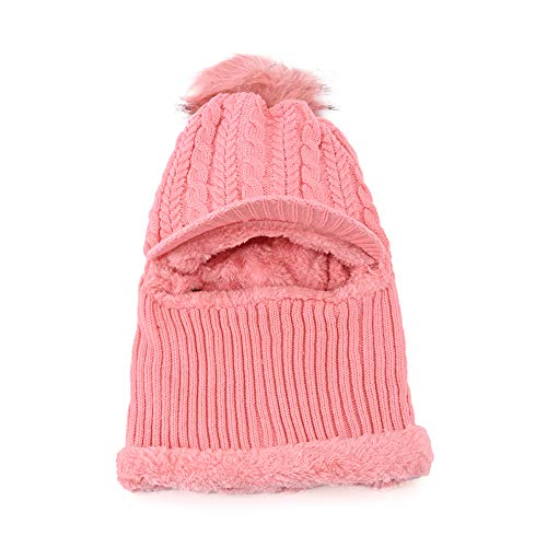 True Indian Monkey Cap Soft Winter Warm Woolen Caps for Women, Girls, Ladies, Beautiful Soft Quality Designer Caps -Pink