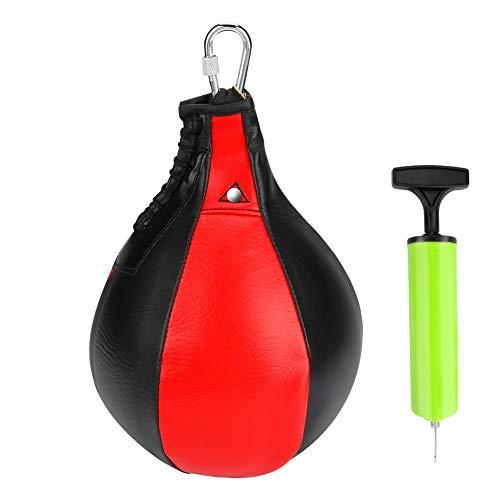 Brynnl - Palla da boxe girevole per allenamento a pera, in pelle PU, per boxe, con pompa di gonfiaggio, ago per iniezione, gancio in metallo, palla da boxe girevole per il fitness