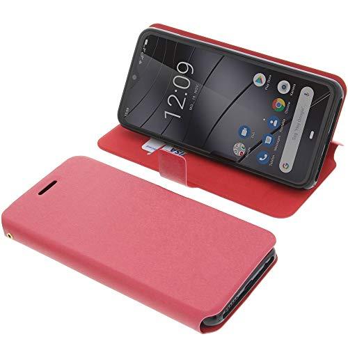 foto-kontor Tasche für Gigaset GS290 Book Style rot Schutz Hülle Buch
