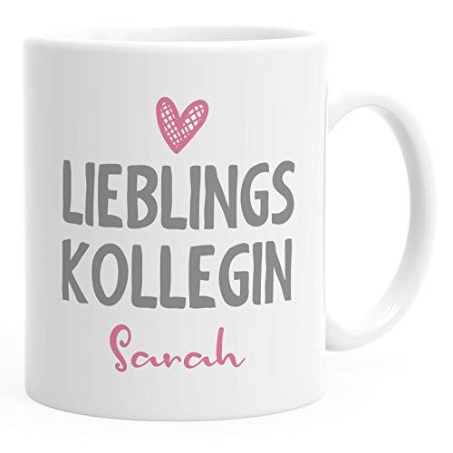 SpecialMe® personalisierte Kaffee-Tasse Lieblings-Kollegin mit Namen Namenstasse personalisierte Geschenke uni - weiß Keramik-Tasse
