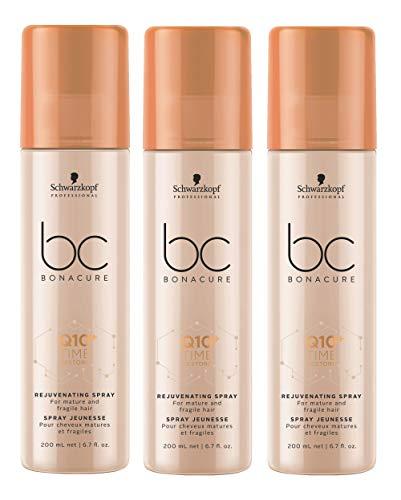3er Q10 Time Restore Rejuvenating Spray für reifes Haar Bonacure Schwarzkopf Professional 200 ml