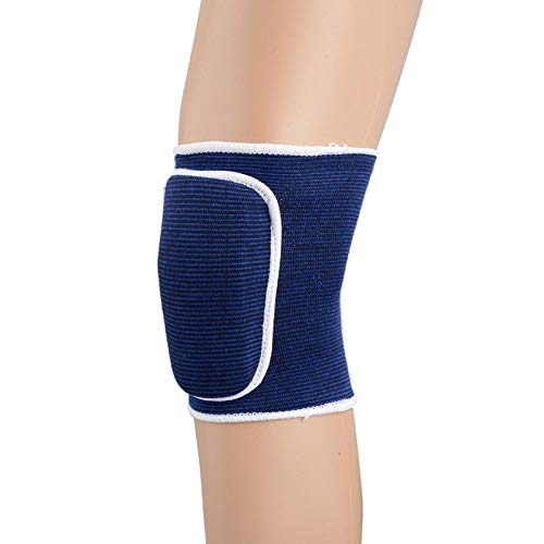 2 Pieces of Protective Gear Protector Arm Support Elbow and Knee Protector Volleyball Basketball Elastic Sleeve Protection Blue