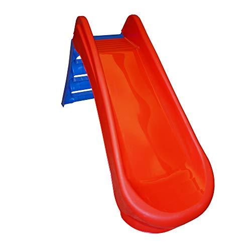 Sport1 Tobogán Plegable de 3 peldaños de plástico Rojo para Ahorrar Espacio