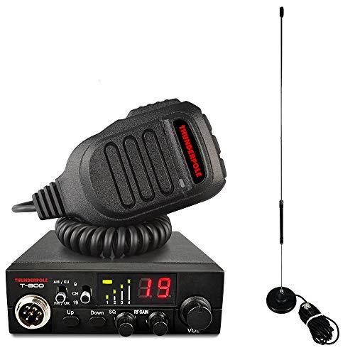Thunderpole T-800 + Apollo Mag Kit Antennen-Set (12 V, AM/FM, CB-Radio, Antennenpackung)