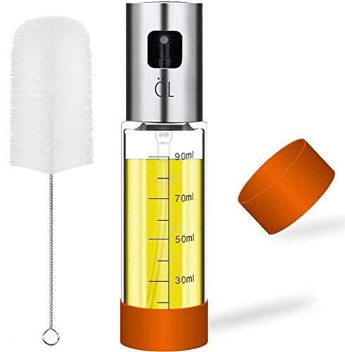 Olive Oil Sprayer Misters Bottle: 3.4-Ounce Oil Dispenser Bottle for Air Fryer Cooking BBQ Making Salad - 1 Pack