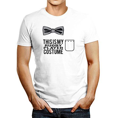 Idakoos This is My Rugby Player - Camiseta para disfraz - Blanco - Medium