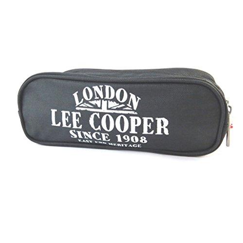 Kit leinwand 'Lee Cooper'schwarz (2 fächer)- 22x8x7 cm.