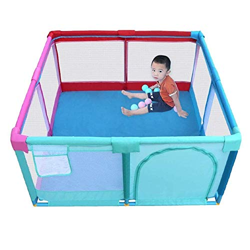 Amazing Deal DJDLLZY, Game Fence Foldable Playpen, Baby Safety Play Yard Lightweight Safety Fence Pr...