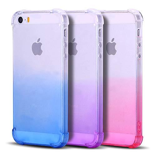 Anfire 3X Funda iPhone 5 / 5S Silicona Carcasa Transparente Suave Gel...
