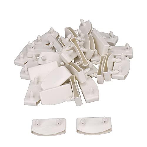 BQLZR Juego de 30 fundas de plástico para somier de cama de madera, color blanco