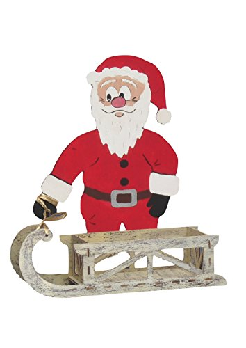 Petra's knutsel-News A-NKB8327BS knutselset, kerstman met slee als box, hout natuur