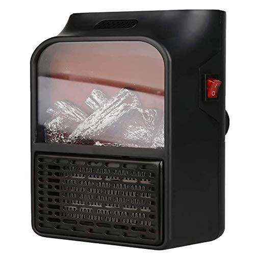 Wgwioo Calentadores de Espacio eléctricos portátiles, práctico Mini Calentador de Enchufe con Control Remoto, Calentador de Llama para Chimenea para Uso en Interiores
