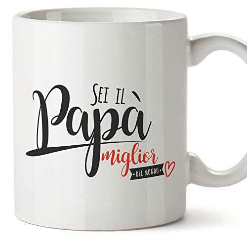 Mugffins Tazza papà (Miglior Padre del Mondo) - miglior Padre del Mondo - Idee Regali Originali Festa del papà