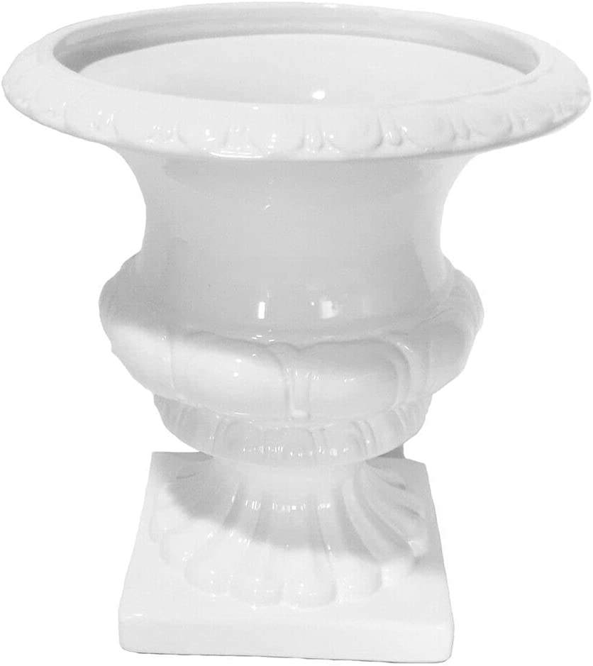 shopping Decorative Footed Ceramic Urn with Design ADH Intricately Albuquerque Mall Carved