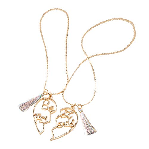 Claire's Matching Gold Script Heart Pendant Best Friends Pendant Necklaces...